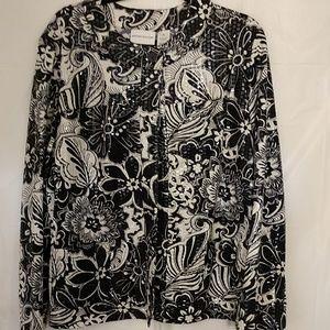 Alfred Dinner Dress Jacket Black/White